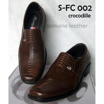 Sepatu Formal Pantofel Kerja Kantor Pria Kulit Asli Coklat