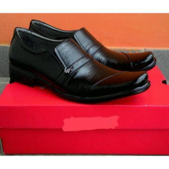 Sepatu pria crocodille Pantofel Kulit Sapi Asli Garut hitam kerja kantoran