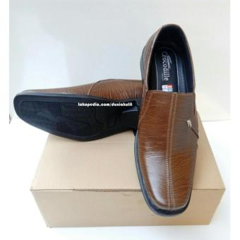 Sepatu Pantofel Formal Kerja Kantor Pria Kulit Asli Coklat / Sepatu kerja Pria Kulit Coklat /