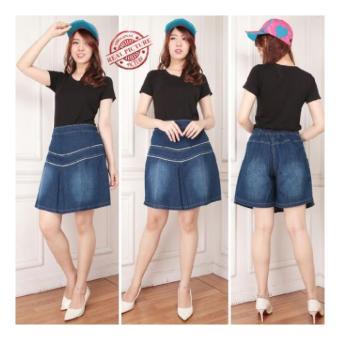 Harga 168 Collection Celana White Scratch Jeans Pant Putih Di Source · Shining Collection Celana Rok Jumbo Melina Hot Pant jeans Biru Tua