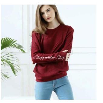 Shoppaholic Shop Sweater Wanita Thumb Hand - Maroon   Sweater Wanita   Baju  Hangat   Baju a7c83d3d91