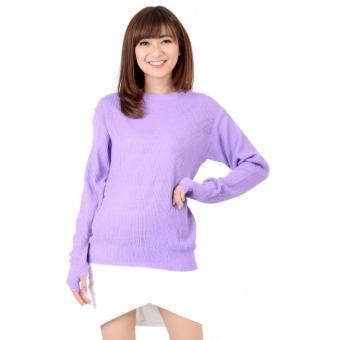 Shoppaholic Shop Sweater Wanita Thumb Hand - Lavender   Sweater Wanita   Baju  Hangat   Baju 7766976816