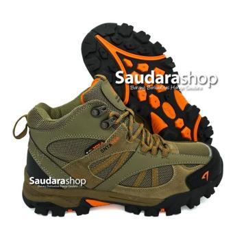 SNTA 481 Sepatu Gunung   Sepatu Hiking   Sepatu Outdoor Beige Brown 1e0f685070