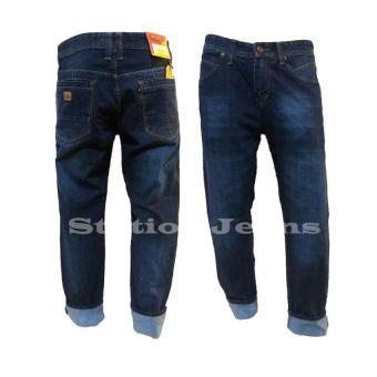 Station Jeans Celana Jeans Panjang Big Size Model Reguler