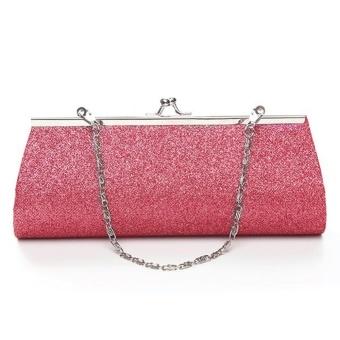 Sunshop Lady Women Fashion Shiny Handbag Clutch Purse for Evening Party Banquet Wedding (Pink)