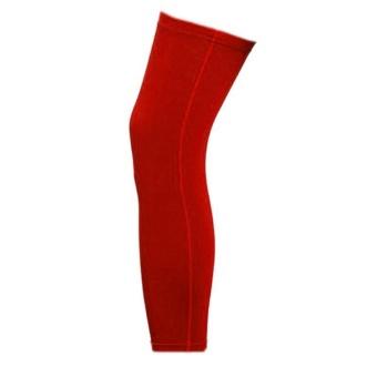 Sunshop Olahraga Legging Sepak Bola Basket Bersepeda Stretchable Long Lle Leg Guard (Merah)-