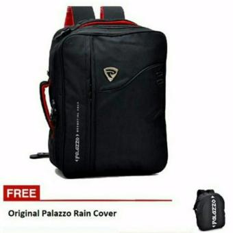 Tas Ransel Palazzo 3in1 34685-18 ZV Multifungsi Original - Black + Free Rain cover