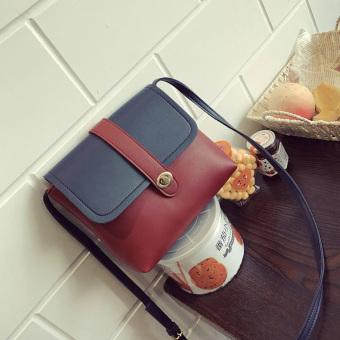 Korea Fashion Style Perempuan Baru Musim Semi Dan Musim Panas Liar Messenger Bag Tas (Anggur