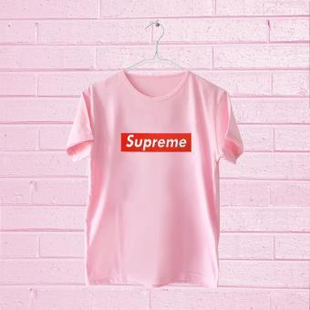 Tumblr Tee T-Shirt Kaos Wanita Lengan Pendek Supreme Warna Pink.jpg