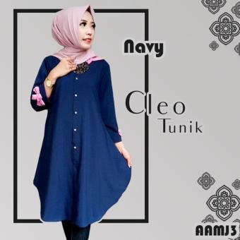 Baju Atasan Wanita - Tunik - Baju Muslim - Blus Muslim - Cleo Tunika