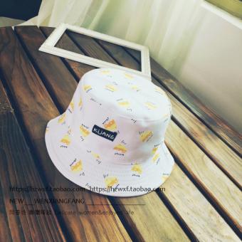 Ulzzang Korea Fashion Style musim panas pria dan wanita matahari topi matahari topi topi ember (