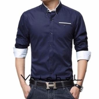 Vrichel Collection - kemeja pria MR (navy)