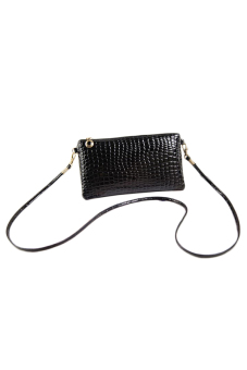 Women Lady PU Leather Hangbag Clutch Bags Purse Wallet Zip Crossbody Bag - Intl