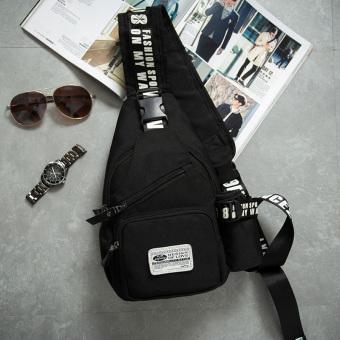 YUFANG Korea Fashion Style tas ransel pria tas dada (Hitam)