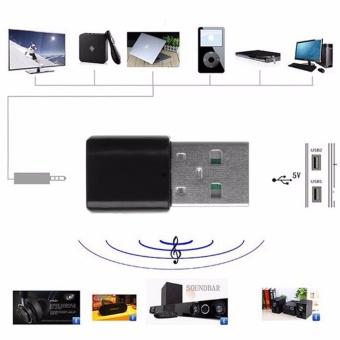 3.5mm 5 V USB Nirkabel Bluetooth Audio Dongle Receiver Adaptor untuk Mobil AUX Ponsel-
