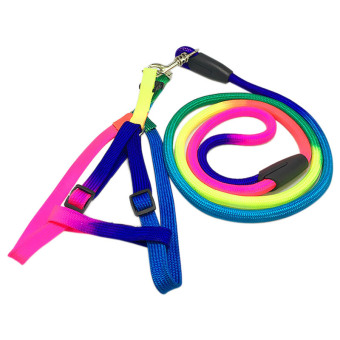 Amart Rainbow Color Pet Training Nylon Harness Traction Belt (style:Chest Rope) - intl