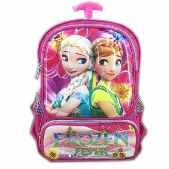 BGC Tas Troley Sekolah Anak TK Frozen Fever 3D Timbul Hard Cover