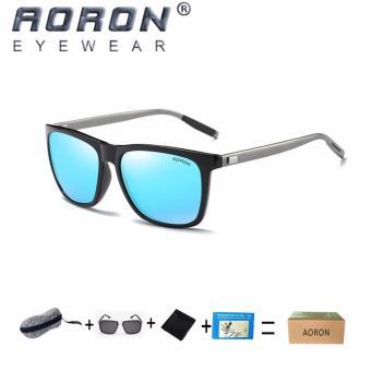 Beli 1 Gratis 1 Freebie  AORON Fashion Aksesoris Trendi Kacamata Pria  Terpolarisasi Anti- a9f25c9ed2