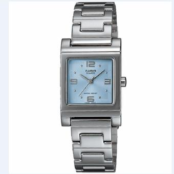 CASIO 1237D-2ADF - Jam Tangan Wanita - Silver Kombinasi Biru