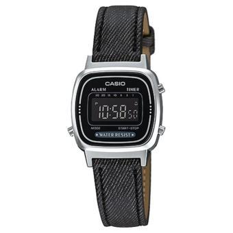 Casio Digital Jam Tangan Wanita Original - Hitam - Strap Kulit - LA-670WL-