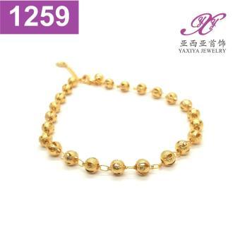Gelang Kaki Lapis Emas Perhiasan Imitasi Gold 18K Yaxiya Jewelry 1259
