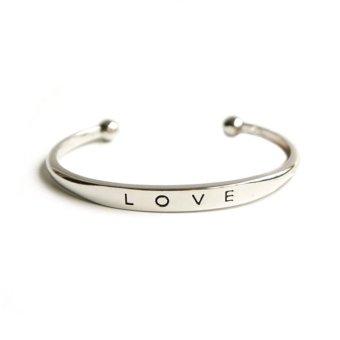 Harga Terbaru Cocotina trendi wanita cinta manset gelang perhiasan - Silver
