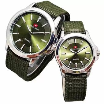 Swiss Army - Jam Tangan Couple - Strap Kanvas Hitam - Dial Putih - SA 5093arta