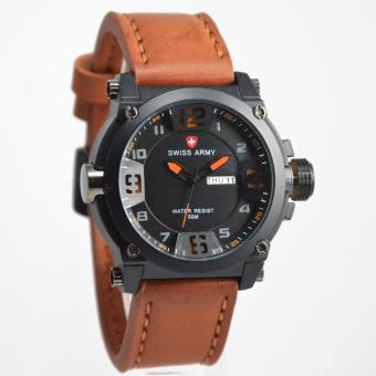 Sa7352njd14 Daftar Source Harga Terbaru Swiss Army Jam Tangan Pria Cokelat Leather Strap SA472C