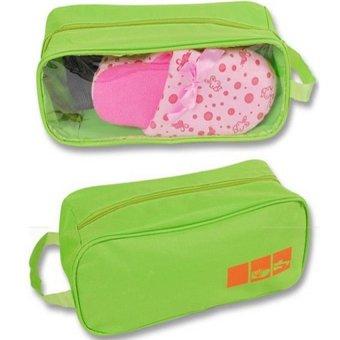 itech Tas Sepatu Olahraga Sport Shoes Bag Gym Waterproof- Hijau