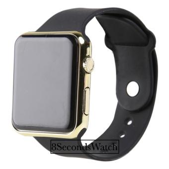 Jam Tangan LED - Jam Tangan Pria dan Wanita - Strap Karet - Apple_Black (Steel