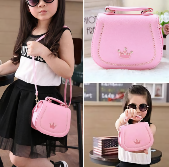 JCF Premium Tas Branded Anak Fashion Belle Sling Bag Import - Pink