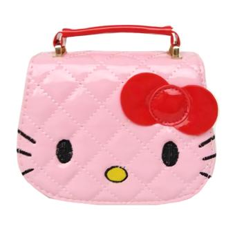 JCF Tas Anak Branded Fashion Helo Kiti Kids Sling Bag Import - Pink Muda