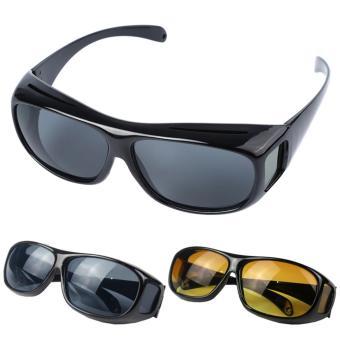 Kacamata berkendara anti silau siang   malam HD Vision 1 Kotak Isi 2pcs  Pujasera 67d88c61d6