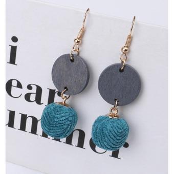 LRC Anting Gantung Fashion Ball Shape Decorated Earrings