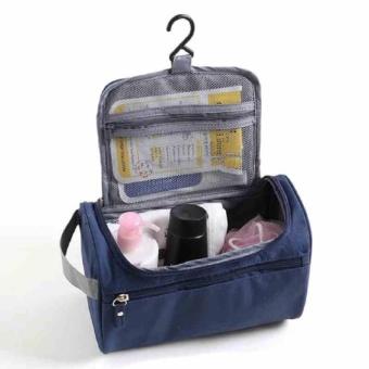 Makeup Case Women Multi Fungsi Travel Cosmetic Bag Hanging Organizer Perlengkapan Mandi-Internasional