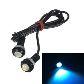 Moonar 2pcs 18mm 9W LED Eagle Eye Car Fog Daytime Reverse Signal DRL Running Light Bulb