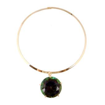 Nama besar populer emas perempuan kalung batu permata liontin