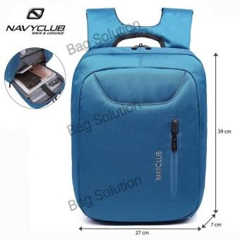 Navy Club Tas Ransel Laptop Tahan Air - Tas Pria Tas Wanita 5883 Backpack Up to