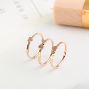 ... 18K Jepang dan Korea Fashion Style Source · Orang Trendi Jepang atau Korea Selatan Perempuan Bentuk Jantung Hati Siswa Cincin Jari Telunjuk Cincin