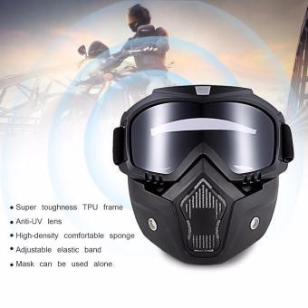 ROBESBON MT-009 Motor Kacamata dengan Masker Yang Bisa Dilepas dan Filter  Mulut Harley Style c61c464d21