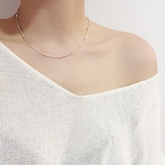 ... Gelang Kaki Source · S925 Korea Fashion Style Perempuan Sterling Silver Bola Giok Kalung Klavikula Kalung