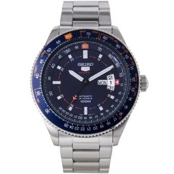 SEIKO 5 Sports Automatic Pilot Jam Tangan Pria SRP609K1 - StainlessSteel - Silver