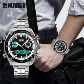 SKMEI Merek Watch Olahraga Watches Pria Fashion 30 M Tahan Air LED Elektronik Luxury Watch Shock