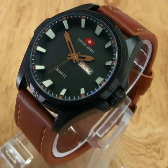 Swiss Army - Jam Tangan Pria - Leather Strap - SA 36483