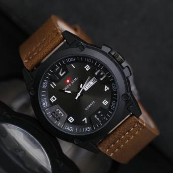 Swiss Army Jam Tangan Pria - Leather Strap - SA 4048