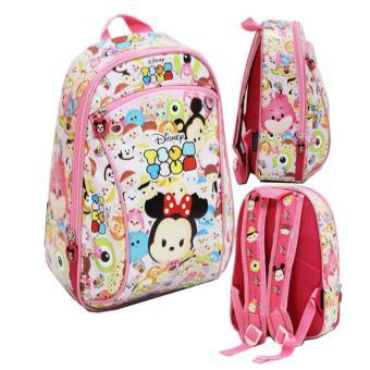 Tas Anak Sekolah PG Tsum Tsum Full Motif - Pink / tas ransel anak perempuan /