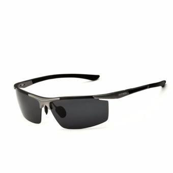 VEITHDA Merek Gaya Olahraga Pria Polarized Sunglasses Aluminium Magnesium  Square Rimless Kacamata Ray 6588 (Grey 2f86507c59