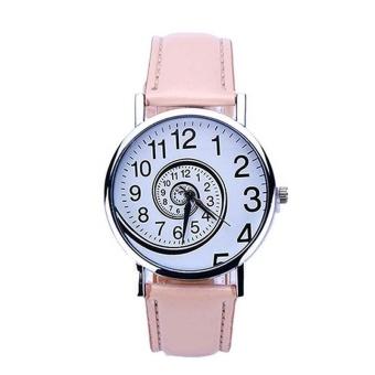 YBC 1 pasang jam tangan pasangan kreatif minimalis jam Analog kulit coklat - International. Source · YBC Fashion Women Swirl Pola Watch PU Leather Strap ...