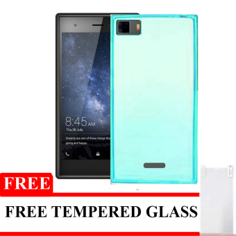 Best Seller Aircase Ultrathin For Infinix Zero 3 + Gratis Tempered Glass - Blue Clear