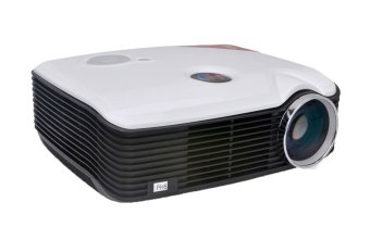 louiwill PH5 Multimedia HD Image System Cinema Theater LCD Projector (White,UK Plug) (Intl)